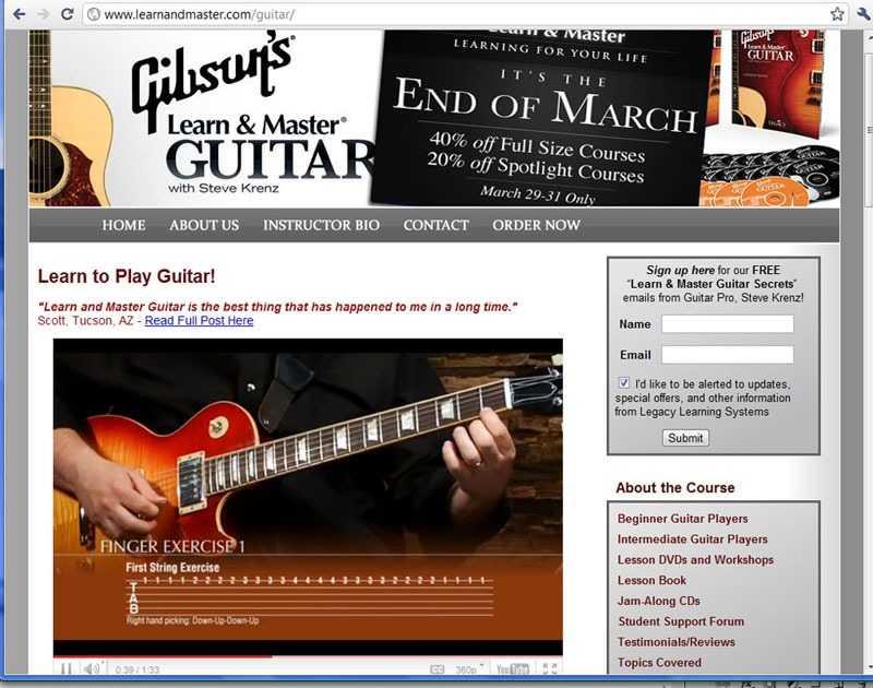 Gibson Learn And Master Finger Exercises Screenshot