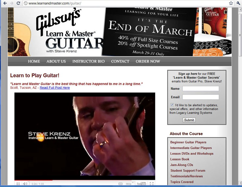 Gibson Learn and Master Instructor Screenshot