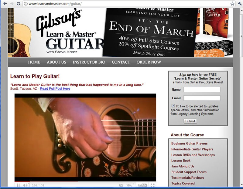 Gibson Learn To Play Screenshot