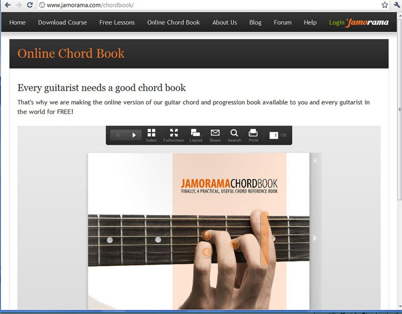 Jamorama Chordbook Screenshot