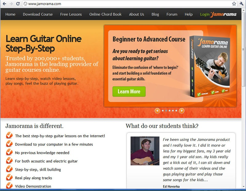 Jamorama Online Course Screenshot