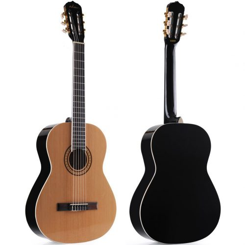 ADM Full Size Nylon-String Classical Guitar with Gig Bag