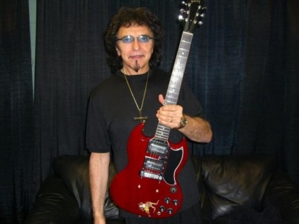 Tommy Iommi With His Gibson