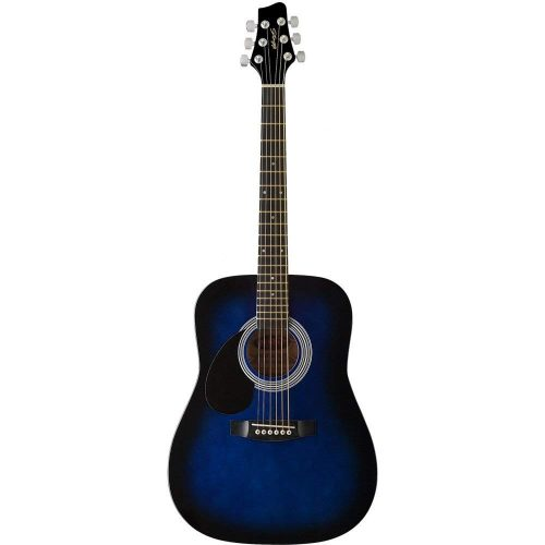 Stagg SW201 LHBLS Dreadnought Acoustic Guitar – Blueburst